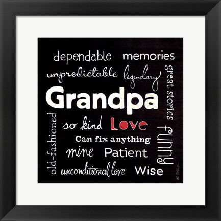 Framed Grandpa Love Print