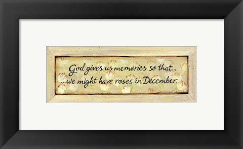 Framed Gives Us Memories Print