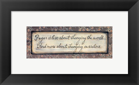 Framed Prayer Print
