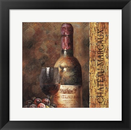 Framed Wine Collection V Print