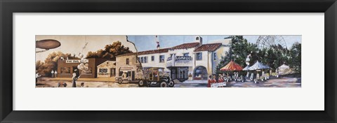Framed Lompoc Mural Society's Community Canvas Print