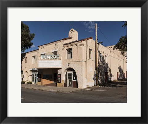 Framed Old Movie Theater in Lompoc, California Print