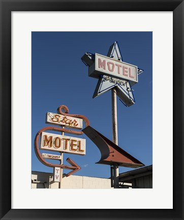 Framed Star Motel in Lompoc, California Print