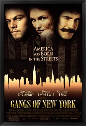 Framed Gangs of New York - characters Print
