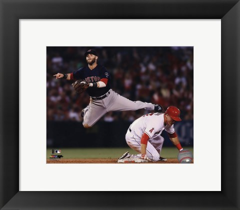 Framed Dustin Pedroia 2013 in Action Print
