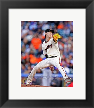 Framed Tim Lincecum 2013 Action Print