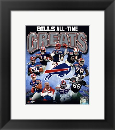 Framed Buffalo Bills All Time Greats Composite Print