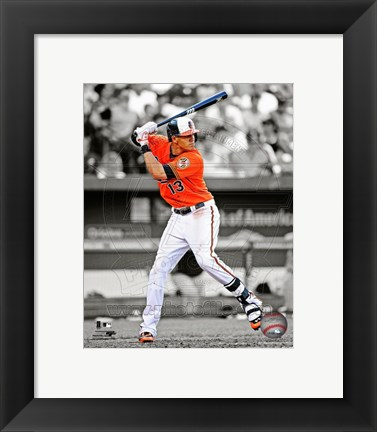 Framed Manny Machado 2013 Spotlight Action Print