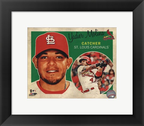 Framed Yadier Molina 2013 Studio Plus Print