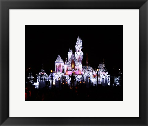 Framed Sleeping Beauty's Castle Print