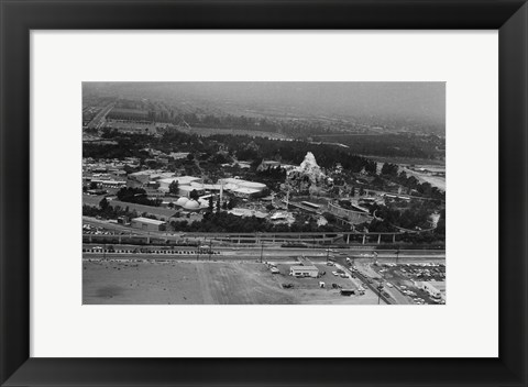 Framed Disneyland From The Air, 1964 Print