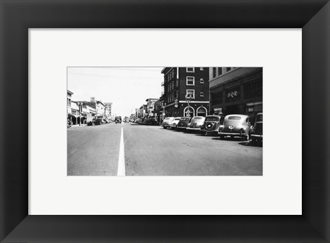 Framed Downtown Anaheim 1946 Print