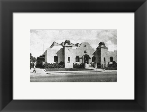 Framed Anaheim Citrus Packing House Print