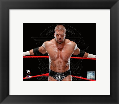 Framed Triple H 2013 Posed Print