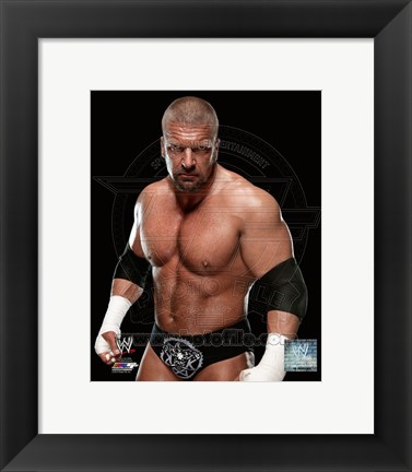 Framed Triple H 2013 Print