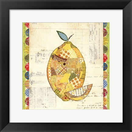 Framed Fruit Collage II - Lemon Print
