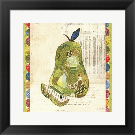 Framed Fruit Collage III - Pear Print