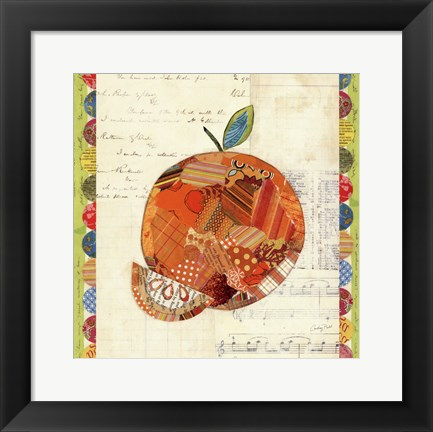 Framed Fruit Collage IV - Orange Print