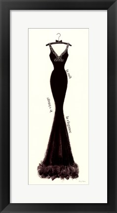 Framed Couture Noir Original I Print