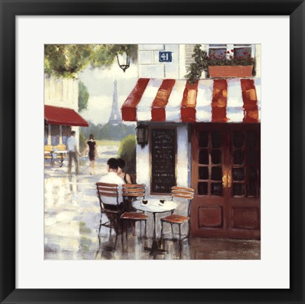 Framed Relaxing at the Cafe II Print