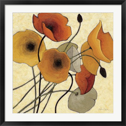 Framed Pumpkin Poppies II Print