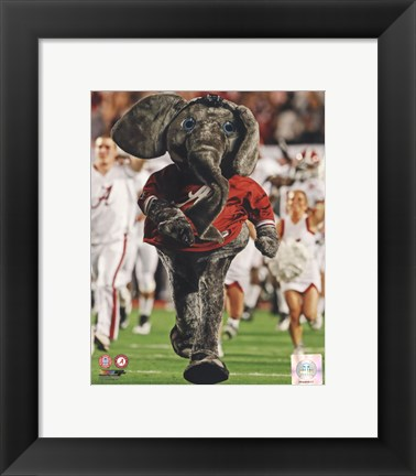 Framed University of Alabama Crimson Tide Mascot Print
