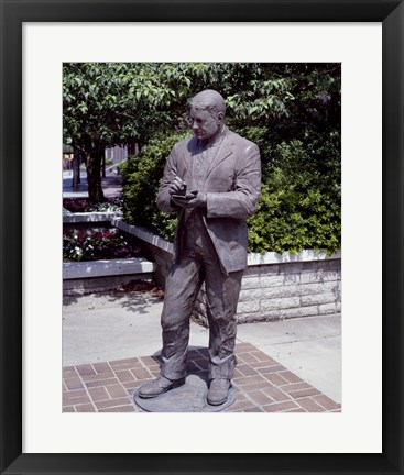 Framed Statue of William Sidney Porter in Greensboro, North Carolina Print