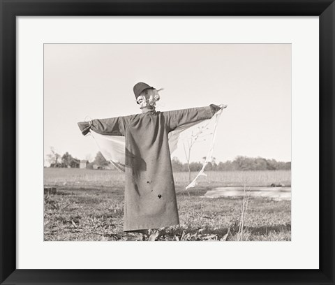 Framed Scarecrow, North Carolina Print