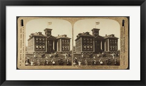Framed White Oak Cotton Mill School. Greensboro, N.C Print