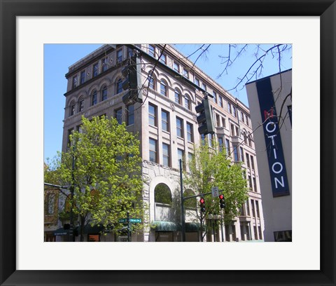 Framed Dixie Building Greensboro Print