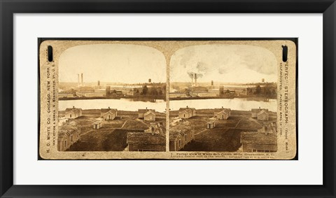 Framed Partial view of White Oak Cotton Mills. Greensboro, NC Print