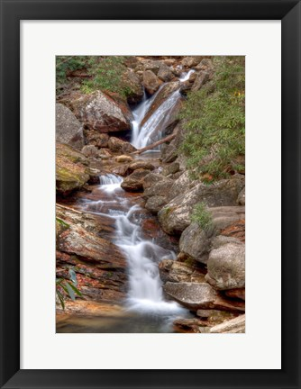 Framed Skinny Dip Falls in Western North Carolina Print