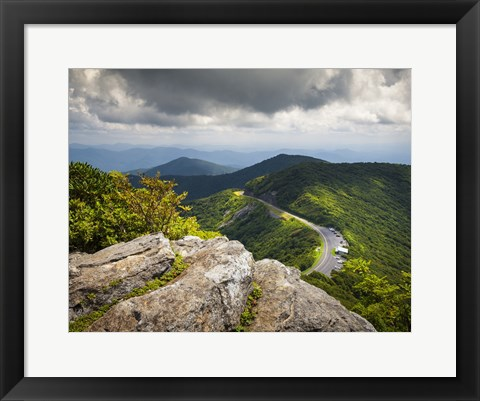 Framed Blue Ridge Parkway Craggy Gardens Scenic Mountains Asheville NC Print