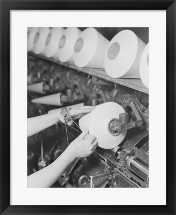 Framed Pickett Yarn Mill Winder Operator High Point, North Carolina Print