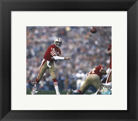 Framed Joe Montana Super Bowl XIX 1985 Action Print