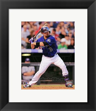 Framed Michael Cuddyer 2013 Action Print