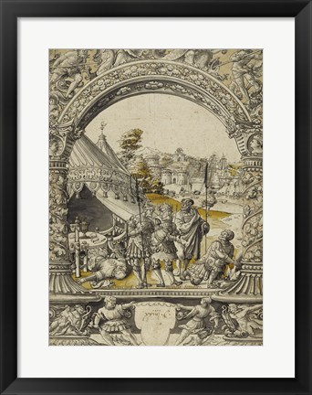 Framed Mucius Scaevola Thrusting His Right Hand into the Flames Print