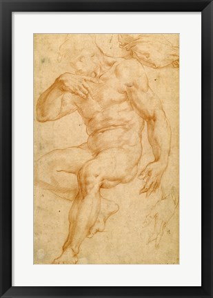 Framed Studies of a Male Nude, a Drapery, and a Hand Print