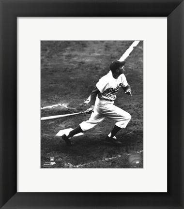 Framed Duke Snider Action Print