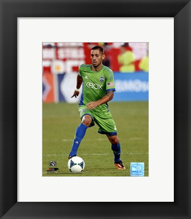 Framed Clint Dempsey 2013 Action Print
