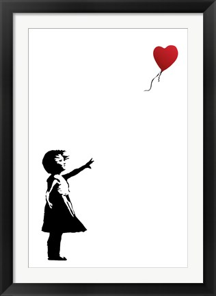 Framed Balloon Girl Print