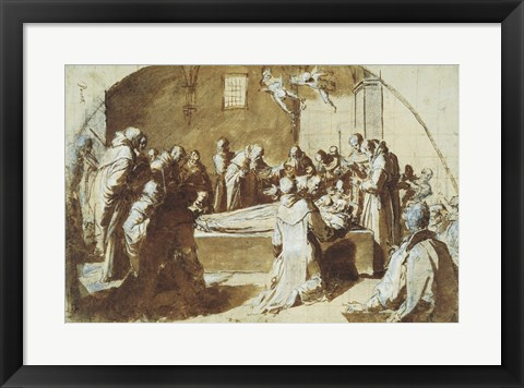 Framed Deaths of the Blessed Ugoccione and Sostegno Print