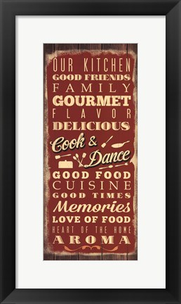 Framed Cook & Dance Print