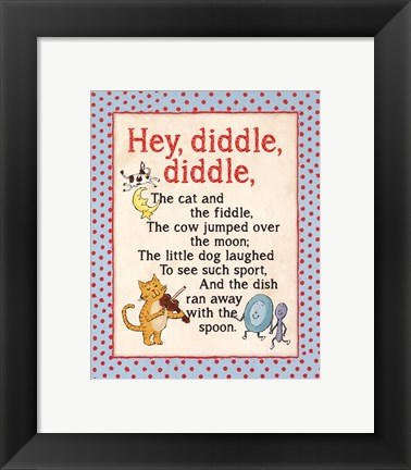 Framed Hey Diddle Print