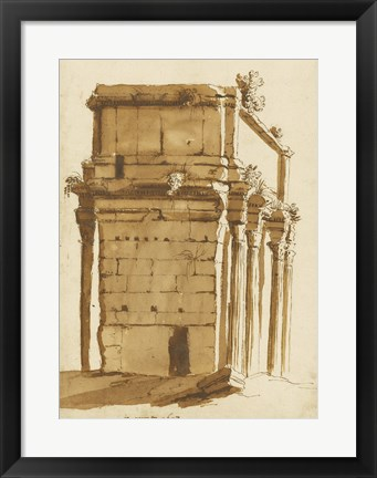 Framed Arch of Septimius Severus Print