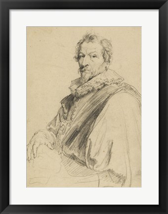 Framed Portrait of Hendrick van Balen Print