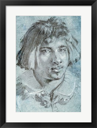 Framed Portrait of a Young Man Print