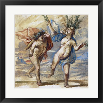 Framed Apollo and Daphne Print