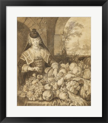 Framed Saint Jerome Hearing the Trumpet of the Last Judgement - food Print