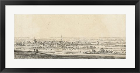 Framed View of the Rhine Valley Print